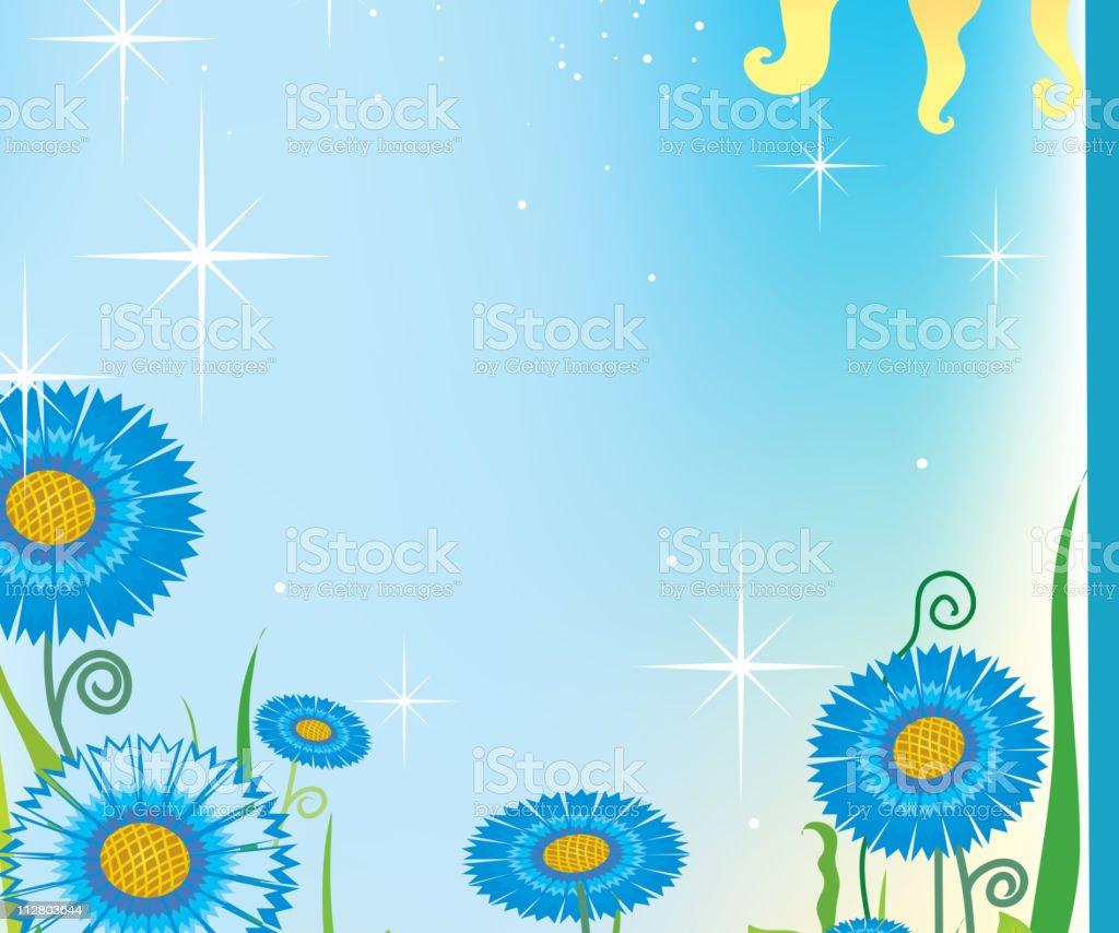 Summer field royalty-free stock vector art