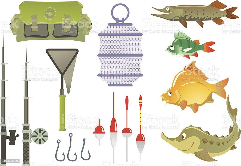 Summer fishing vector art illustration