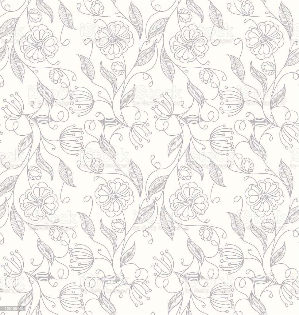 A summer floral background on a white background image royalty-free stock vector art