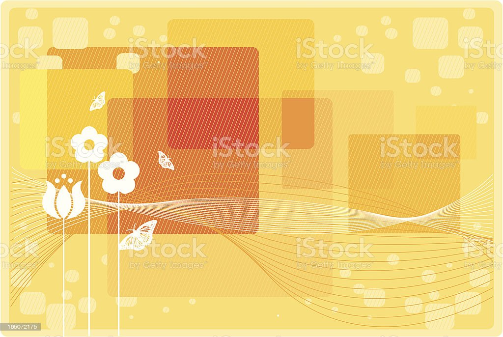 Summer floral background royalty-free stock vector art