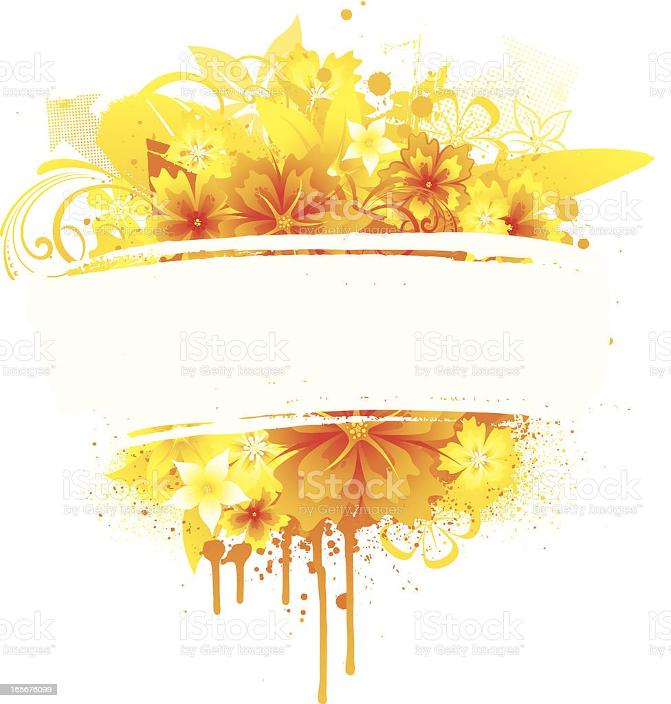 Summer flower banner royalty-free stock vector art