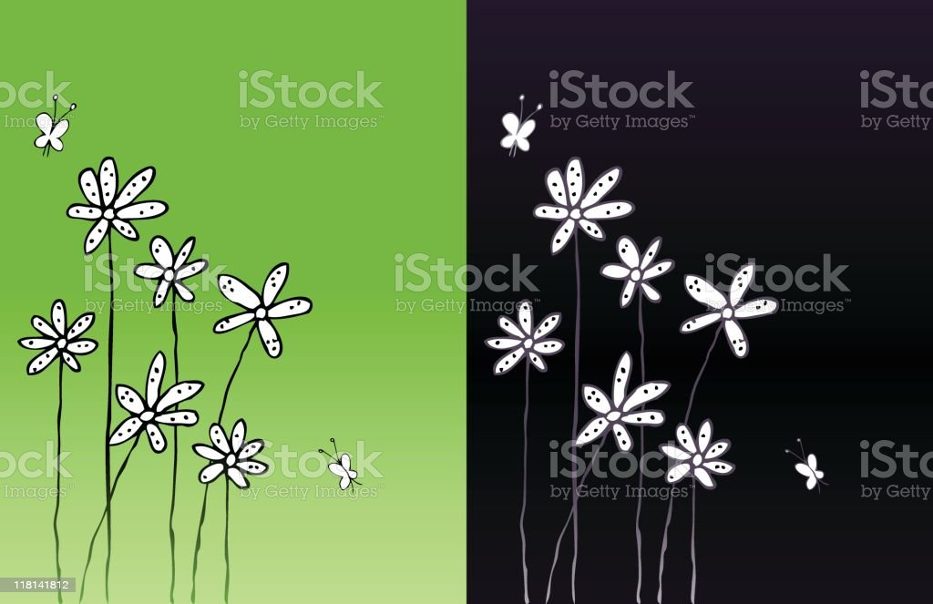 Summer flowers background royalty-free stock vector art
