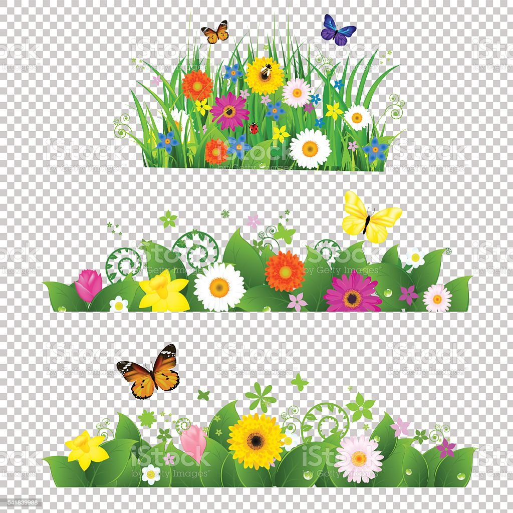 Summer Flowers Bouquet vector art illustration
