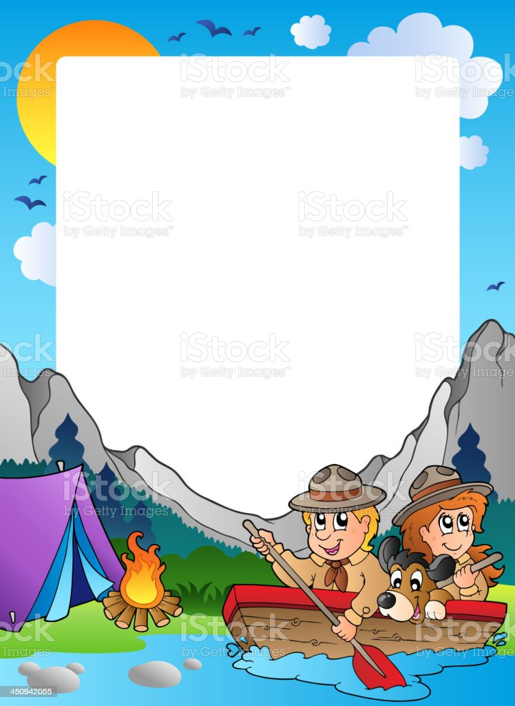 Summer frame with scout theme 4 royalty-free stock vector art
