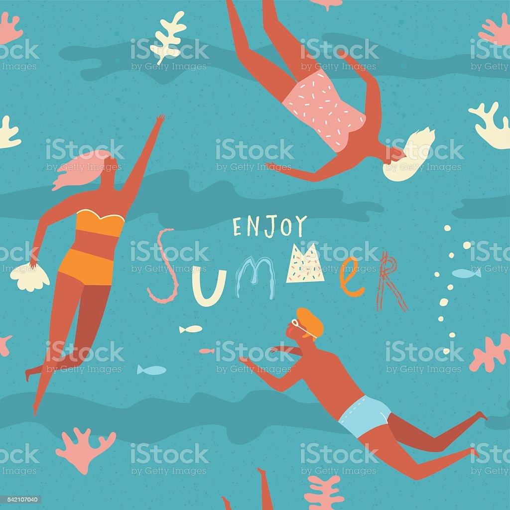 Summer fun concept vector art illustration