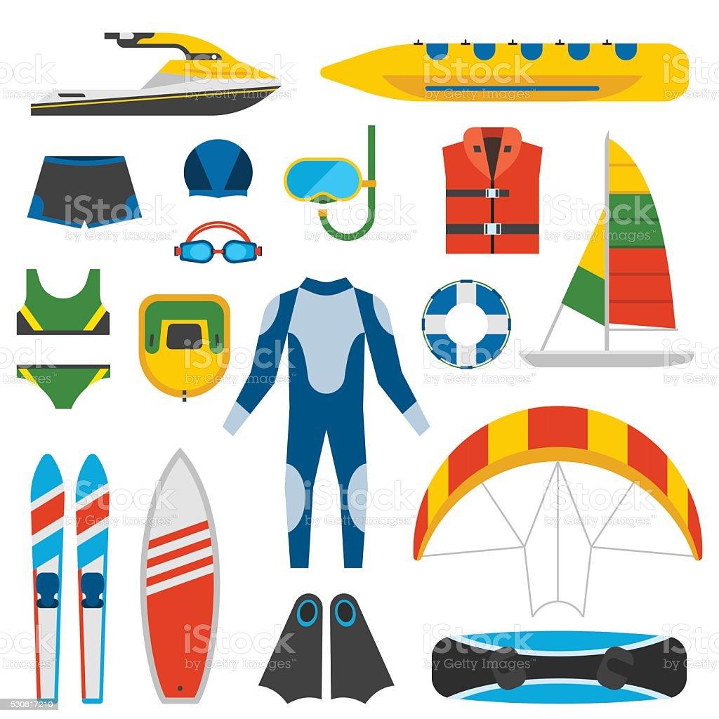 Summer fun entertainment vector illustration vector art illustration