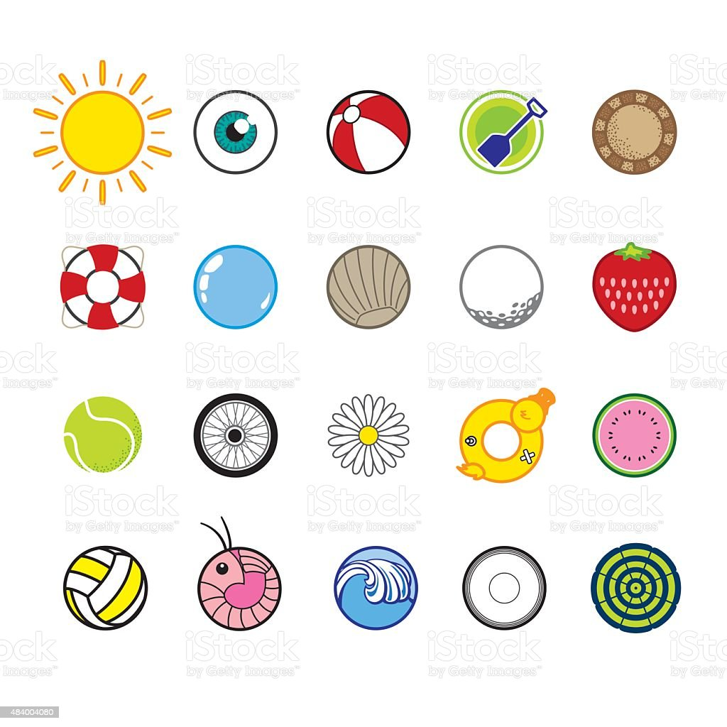 Summer Fun icons vector art illustration