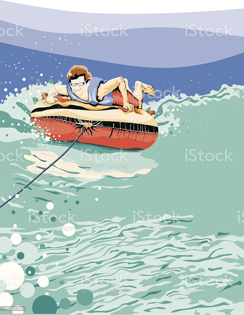 Summer Fun! Tube'n on the Lake royalty-free stock vector art