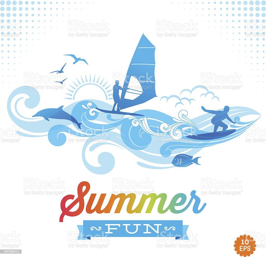 Summer Fun vector art illustration