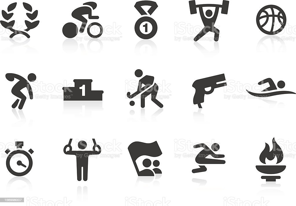 Summer Games icons royalty-free stock vector art