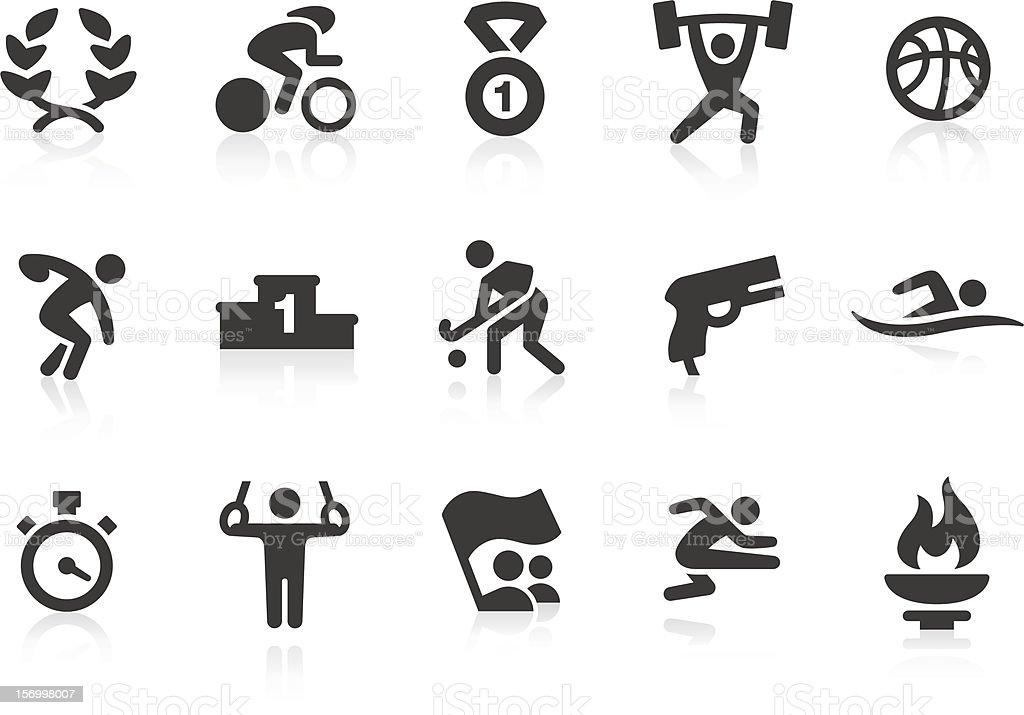 Summer Games icons vector art illustration