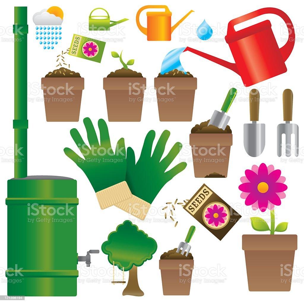 Summer Gardening royalty-free stock vector art