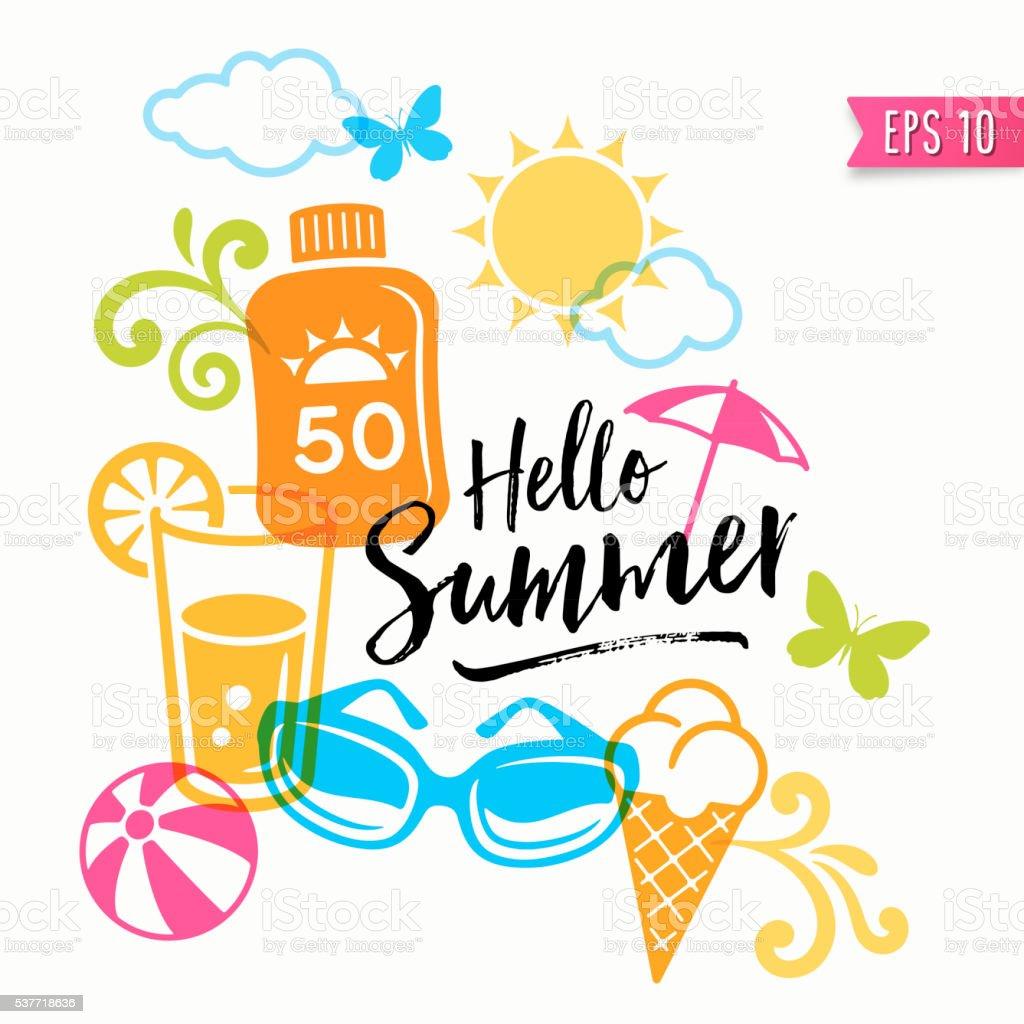 Summer Graphics - Icons vector art illustration