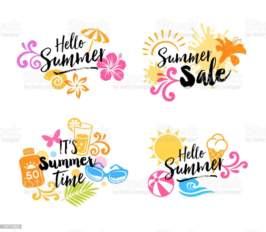 Summer Graphics - Icons vector art illustration
