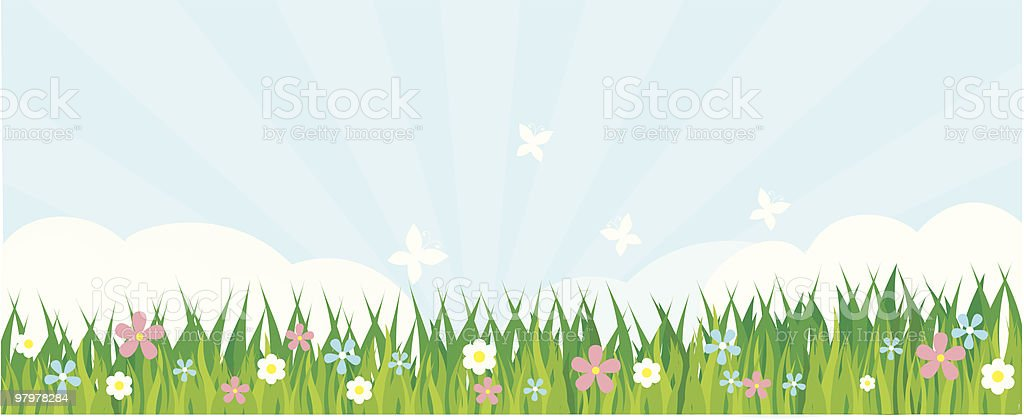 summer grass royalty-free stock vector art