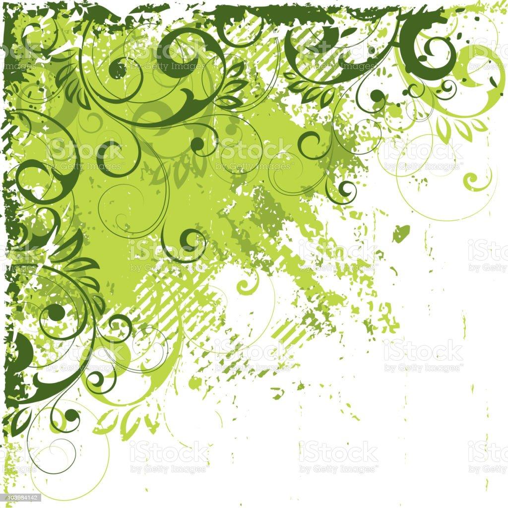 Summer green composition royalty-free stock vector art