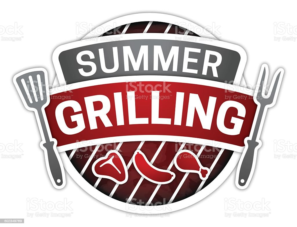 Summer Grilling vector art illustration
