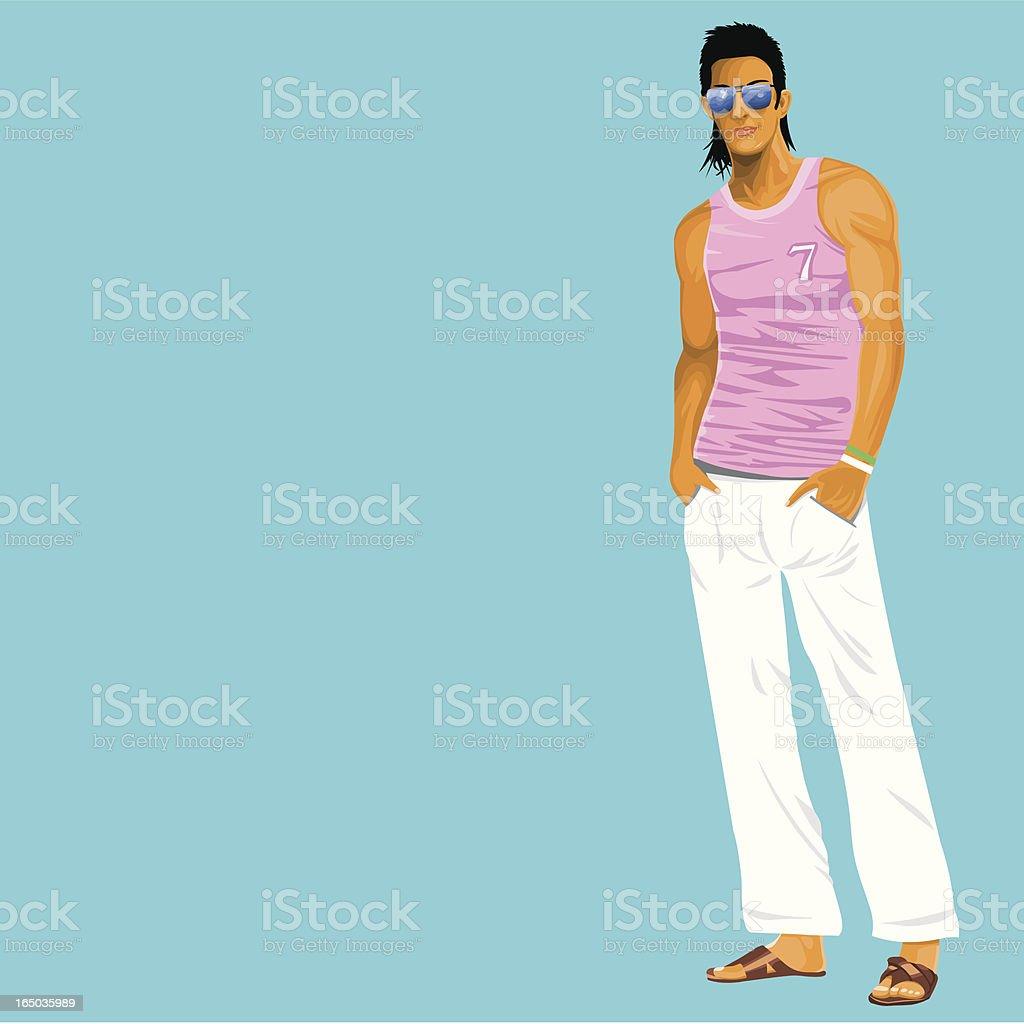 Summer Guy vector art illustration