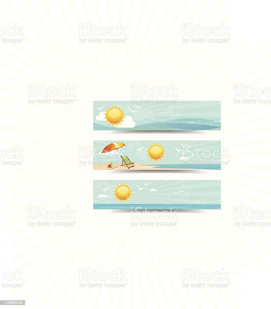 Summer Header Banners vector art illustration