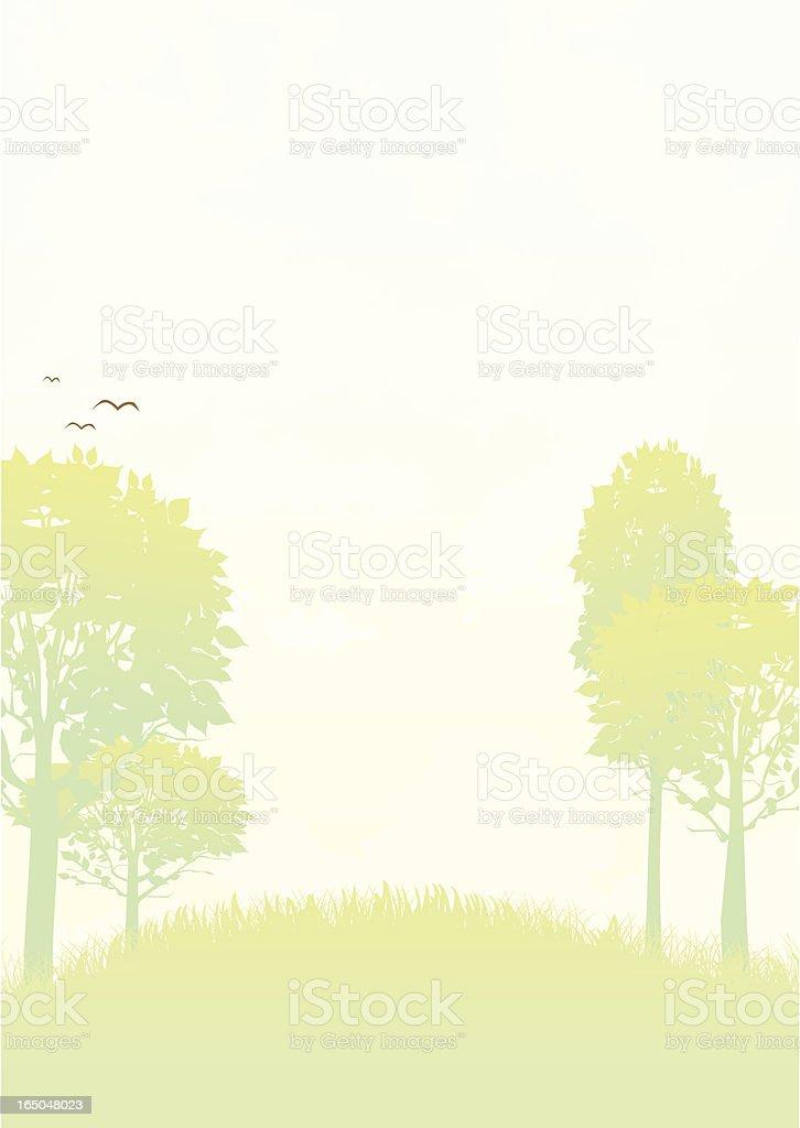 Summer Hill - Vector royalty-free stock vector art