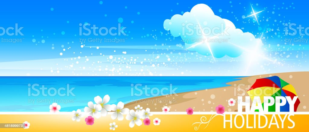Summer Holiday Background with Copy space royalty-free stock vector art