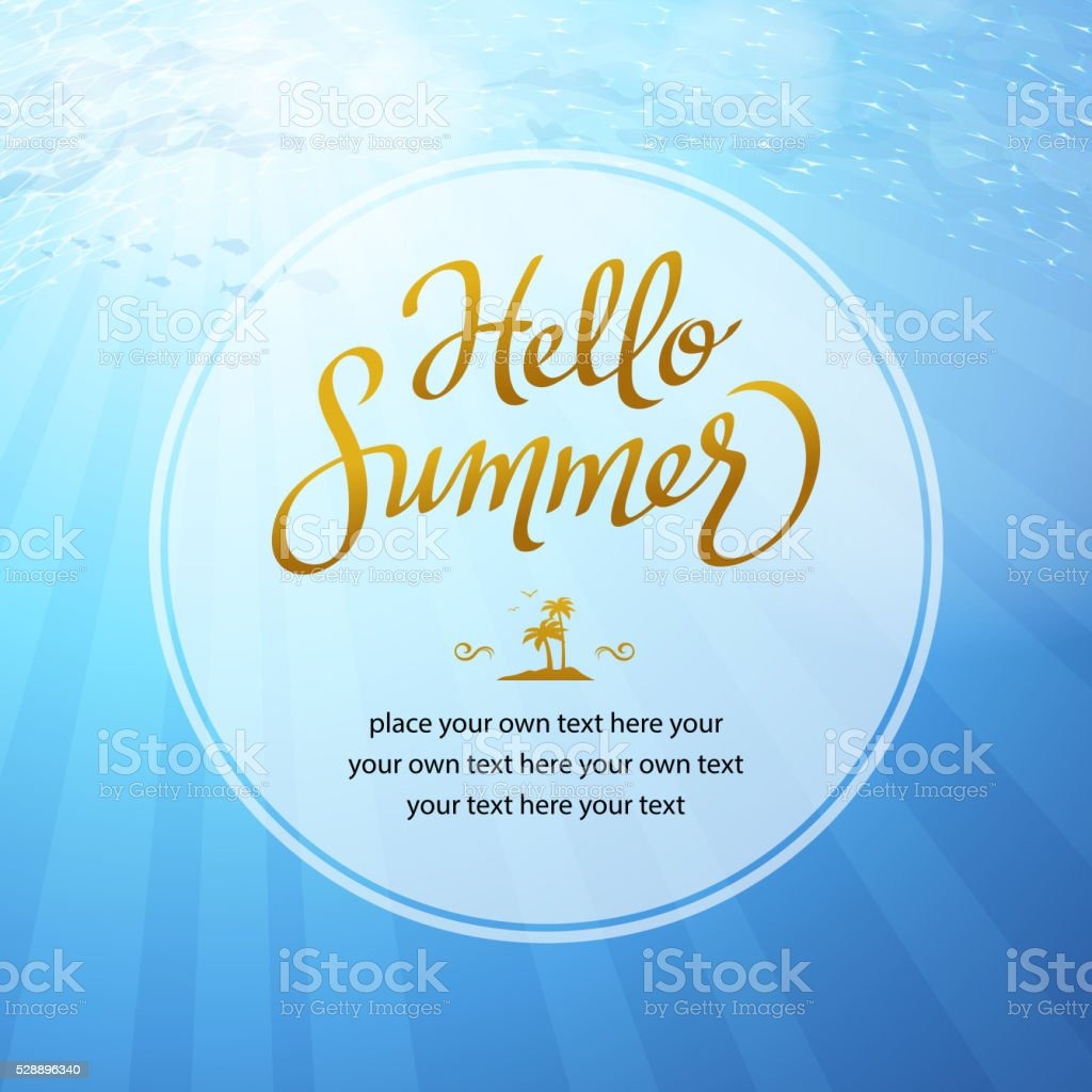 Summer Holiday Ocean Background vector art illustration