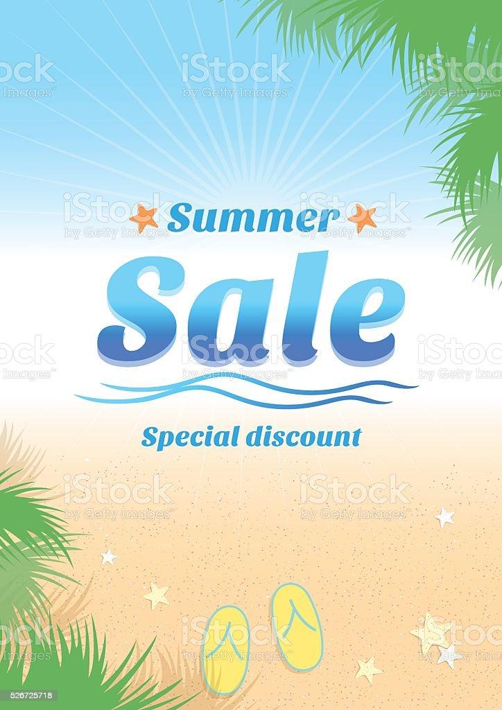 Summer holiday sales background banner vector art illustration