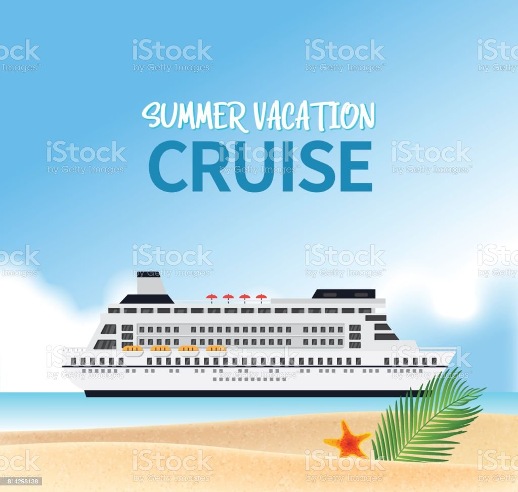 Summer holiday vacation concept, Cruise journey vector illustration vector art illustration