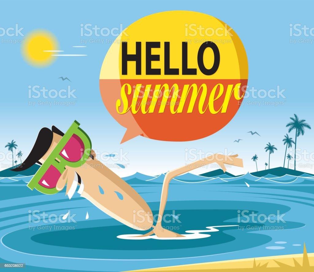 Summer holiday vector art illustration