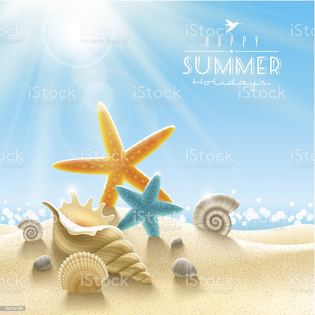 Summer holidays illustration vector art illustration