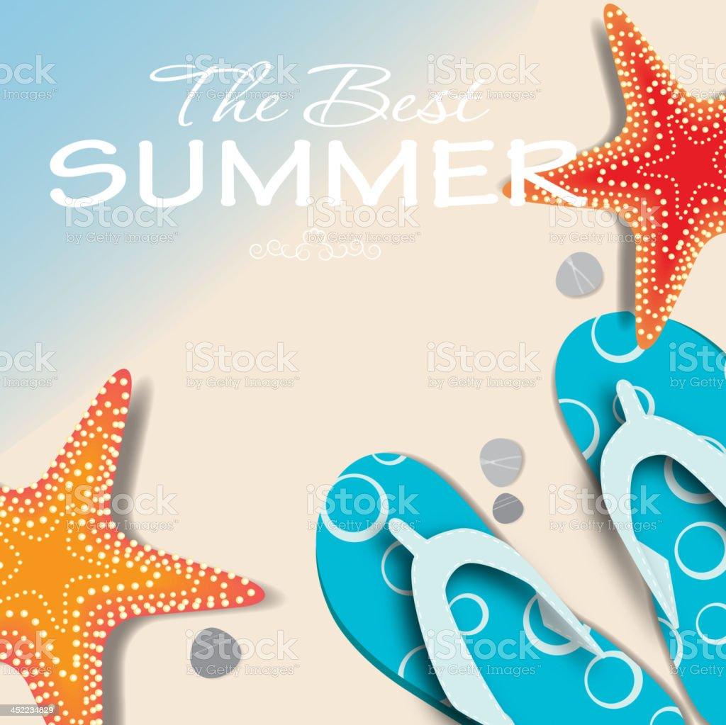 summer holidays poster vector illustration royalty-free stock vector art
