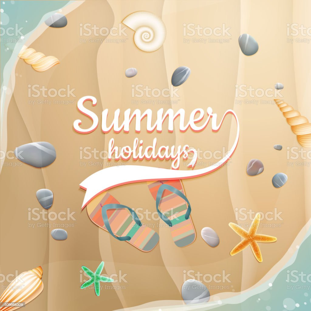 Summer holidays template. plus EPS10 vector file royalty-free stock vector art