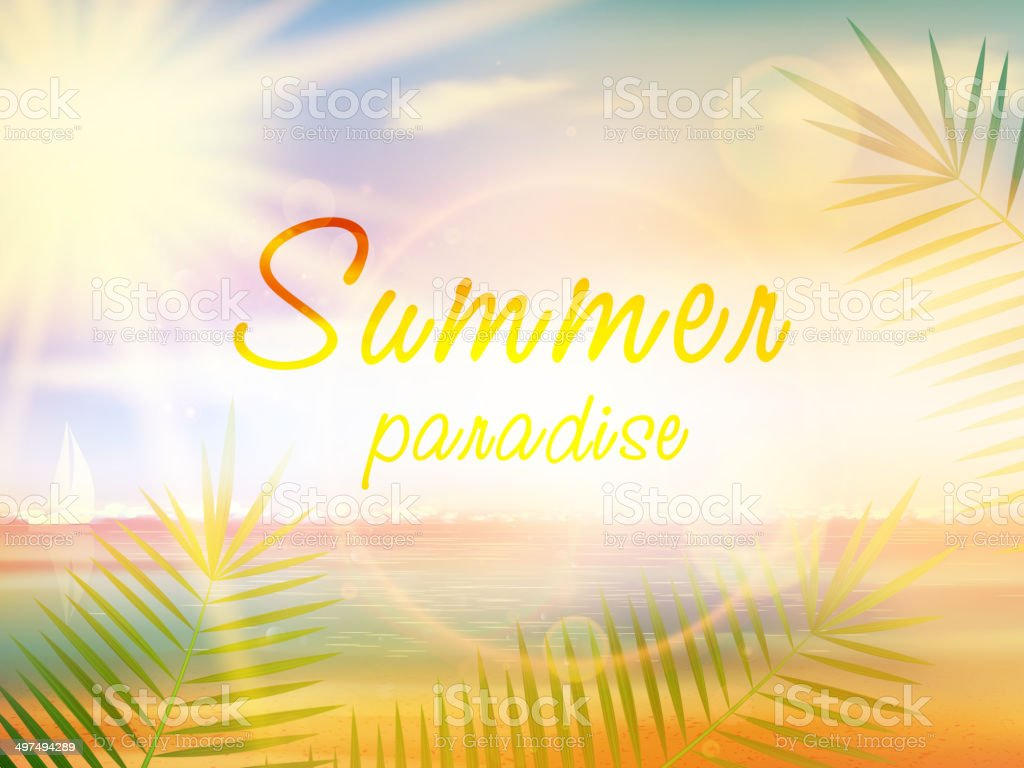 Summer holidays - typographic design template. royalty-free stock vector art