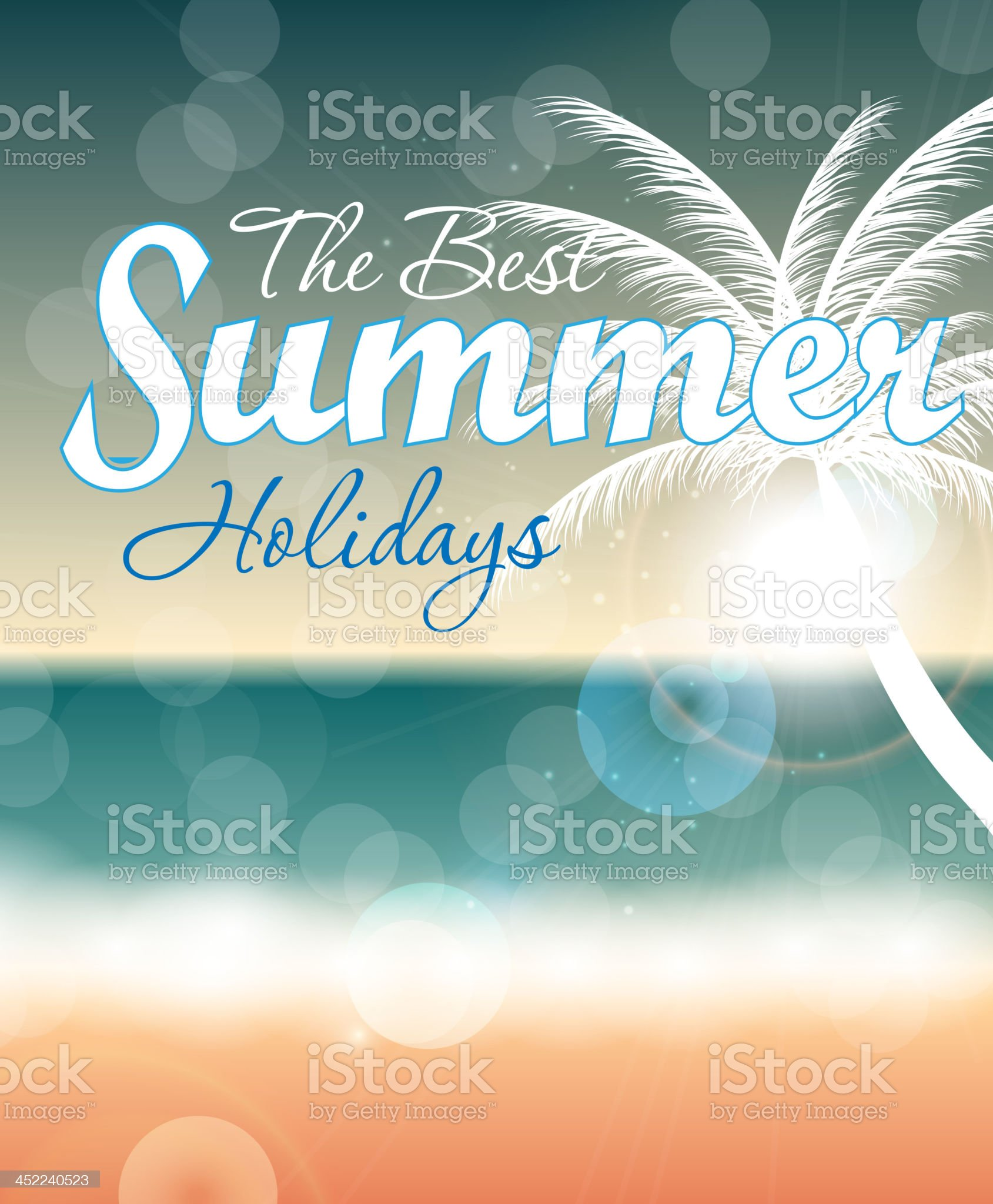 Summer holidays vector background. royalty-free stock vector art