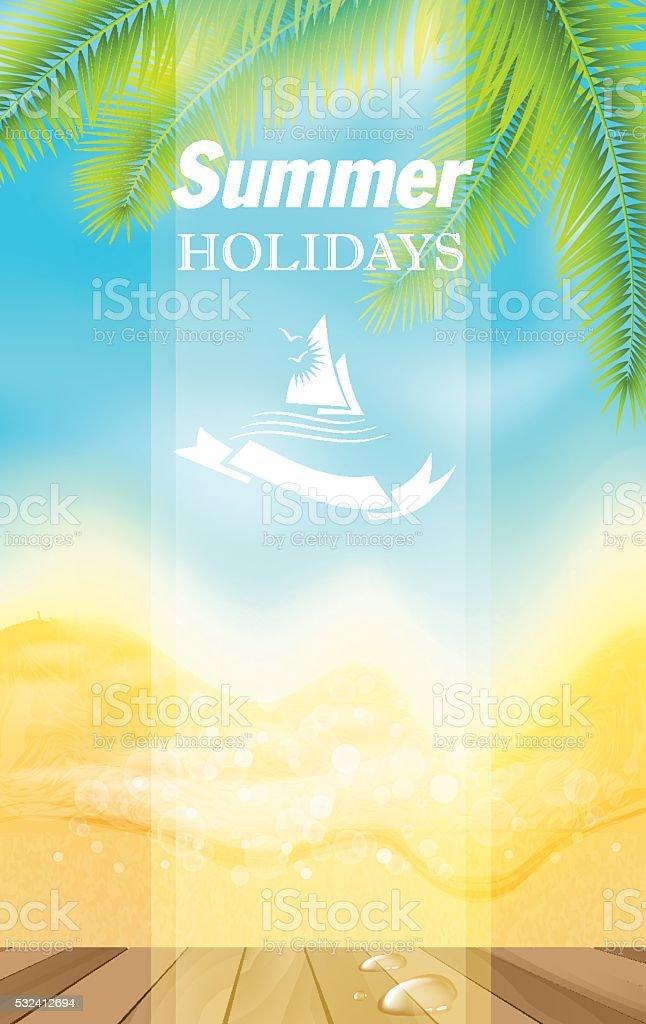 Summer holidays. vector art illustration