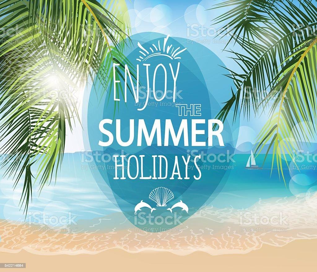 Summer holidays  vector   illustration. vector art illustration