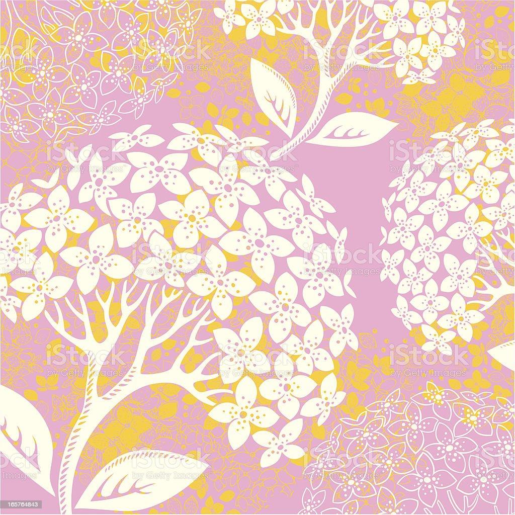 Summer Hydrangea royalty-free stock vector art