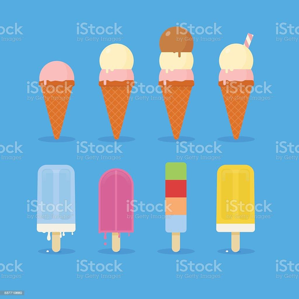 Summer Ice Cream vector art illustration