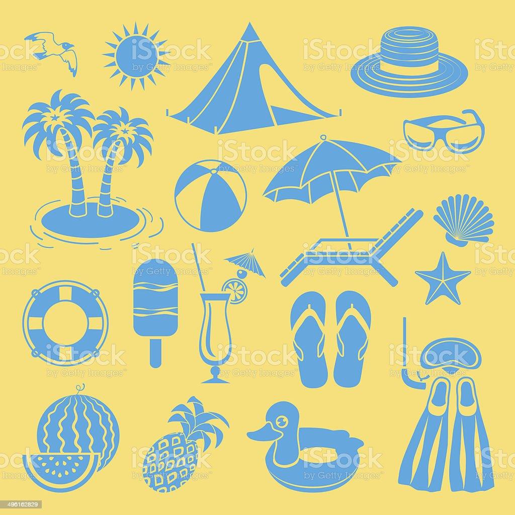 Summer icon. vector art illustration