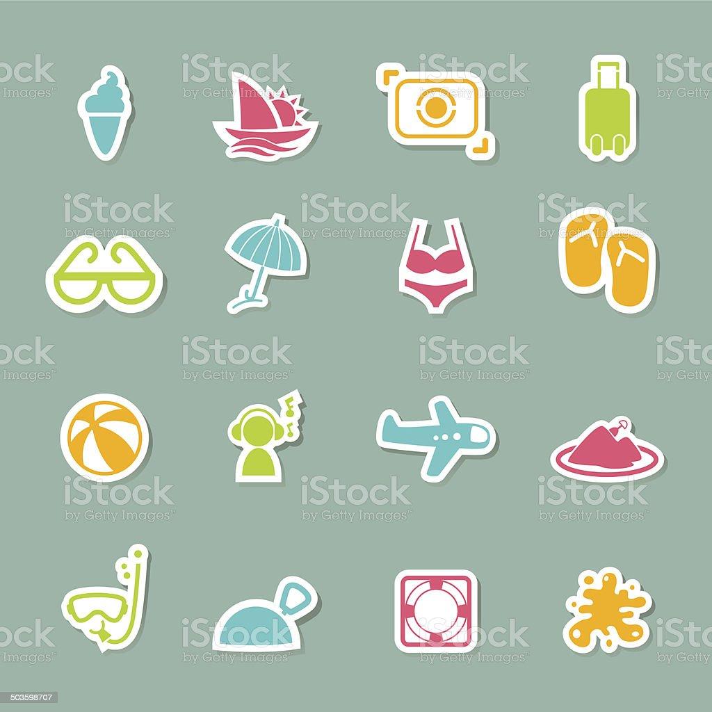 Summer Icons set royalty-free stock vector art