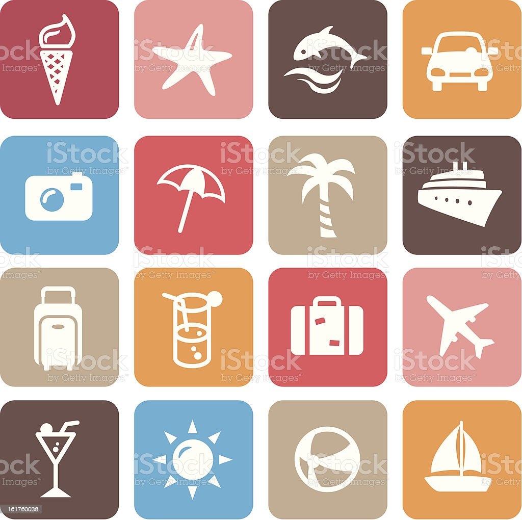 Summer Icons royalty-free stock vector art