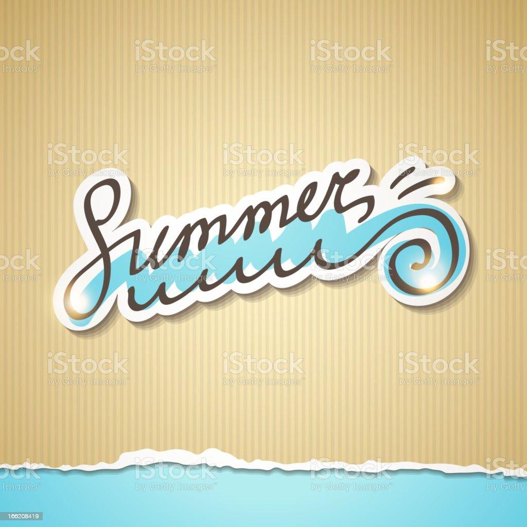 summer illustration, vector eps 10 royalty-free stock vector art