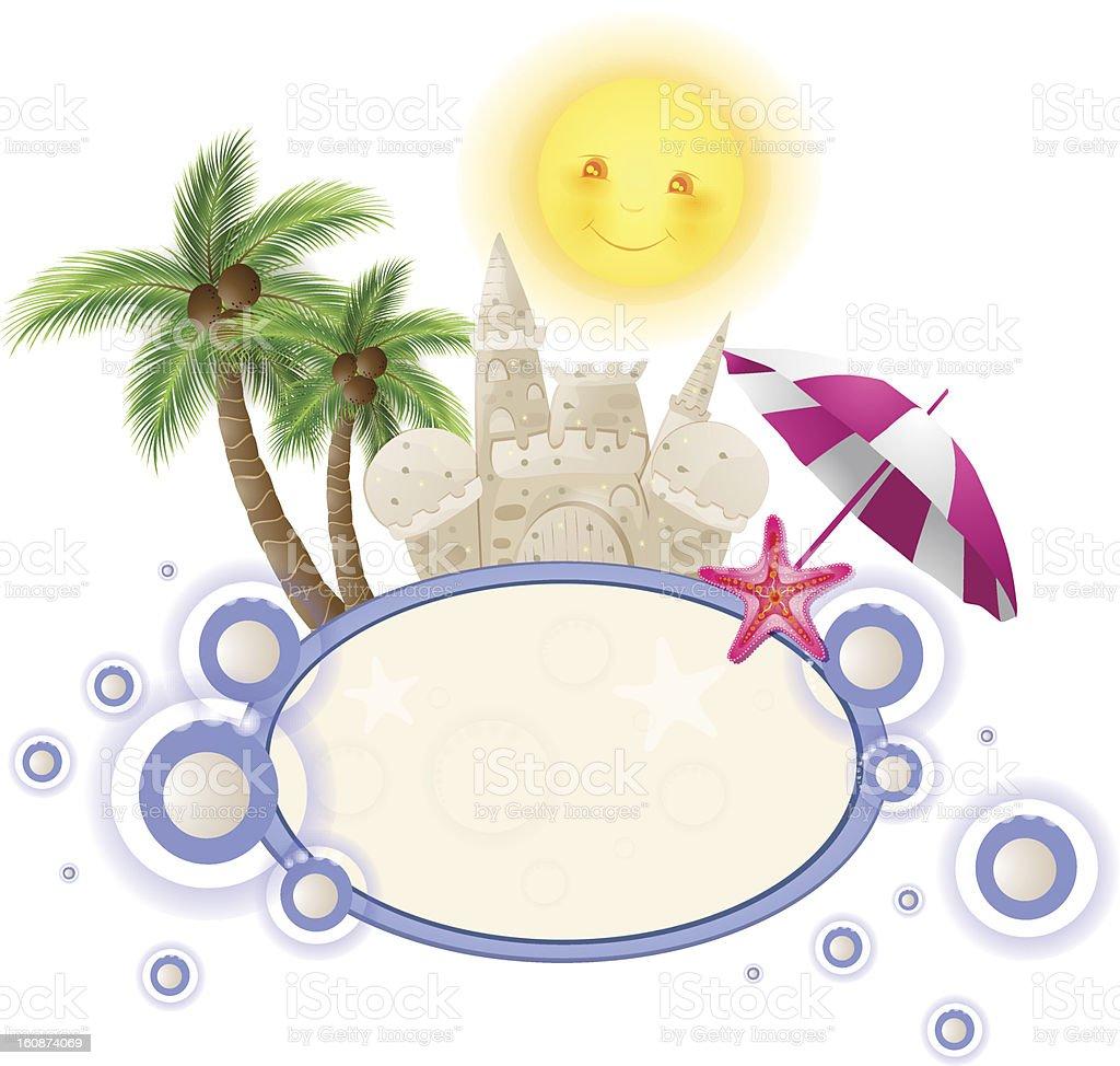 Summer illustration. royalty-free stock vector art