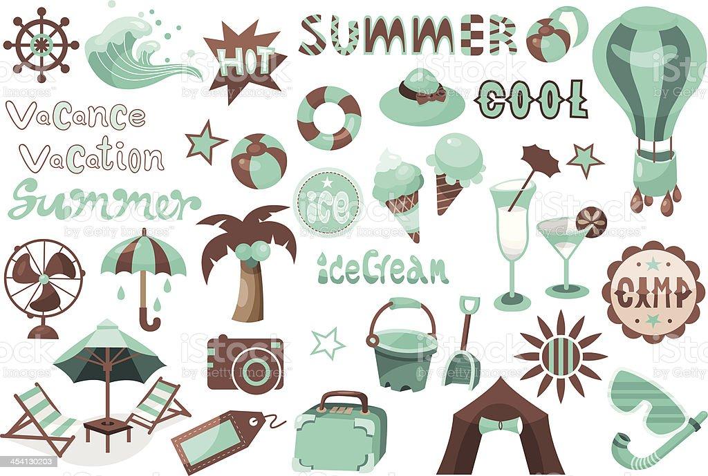 Summer illustration vector art illustration