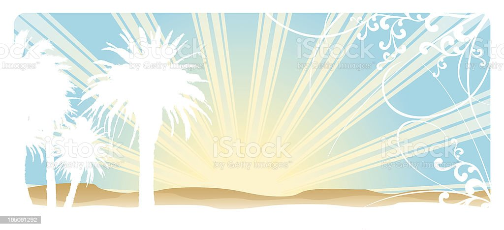 Summer in St Kilda royalty-free stock vector art