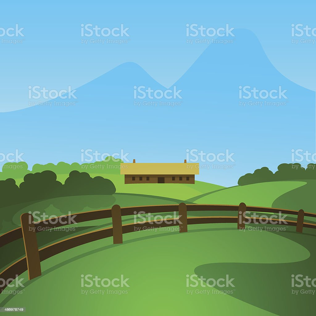 Summer in the Valley royalty-free stock vector art
