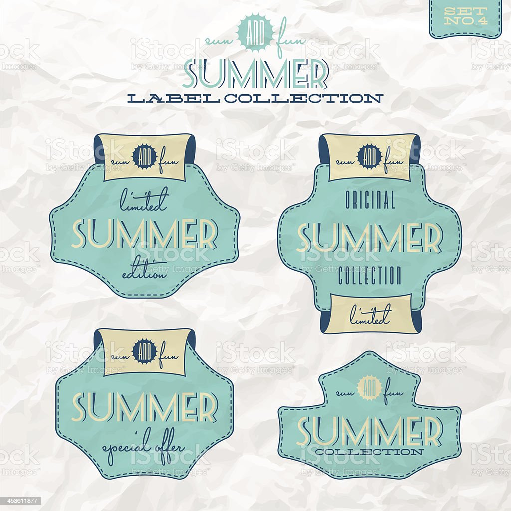 Summer label collection royalty-free stock vector art