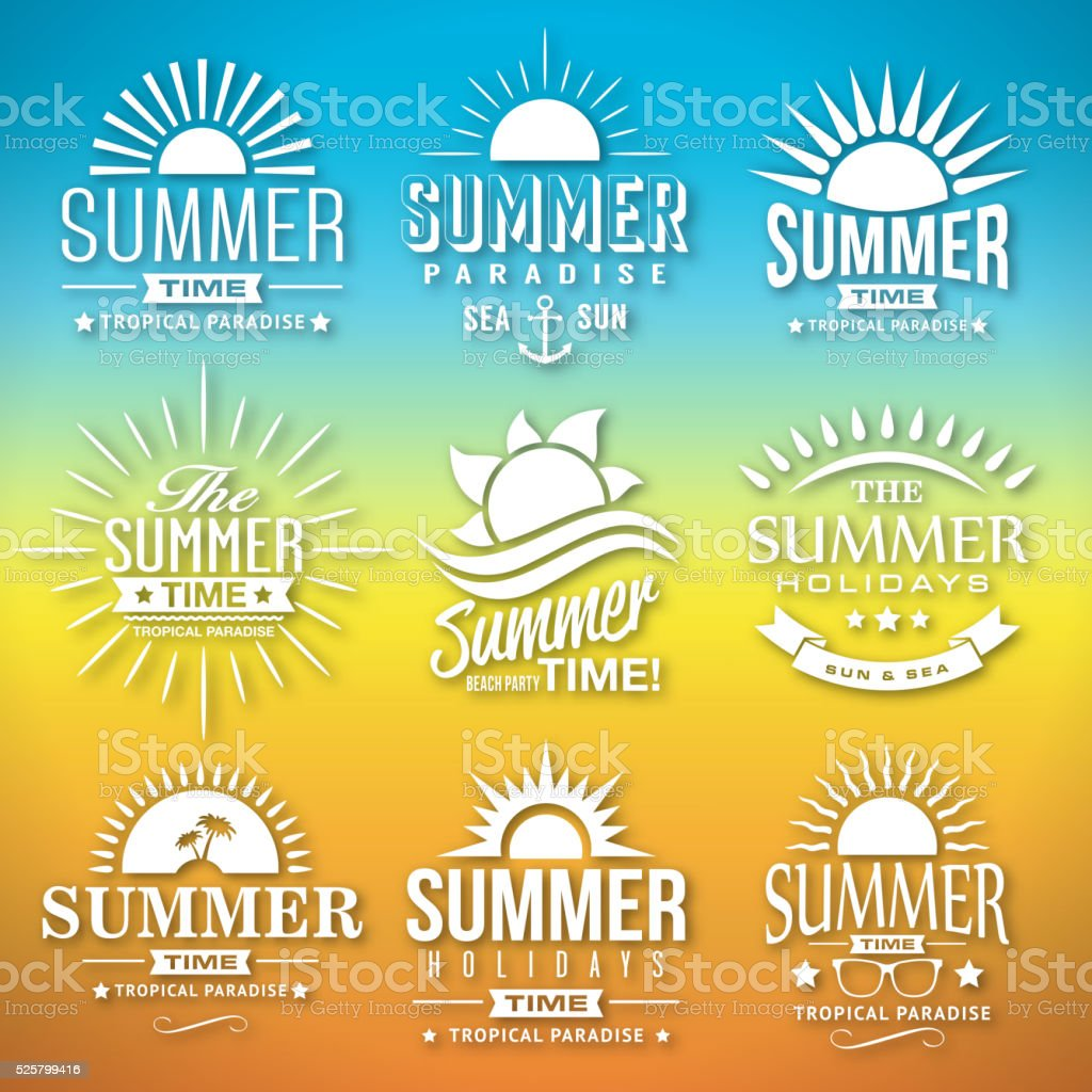 Summer Label Vector vector art illustration