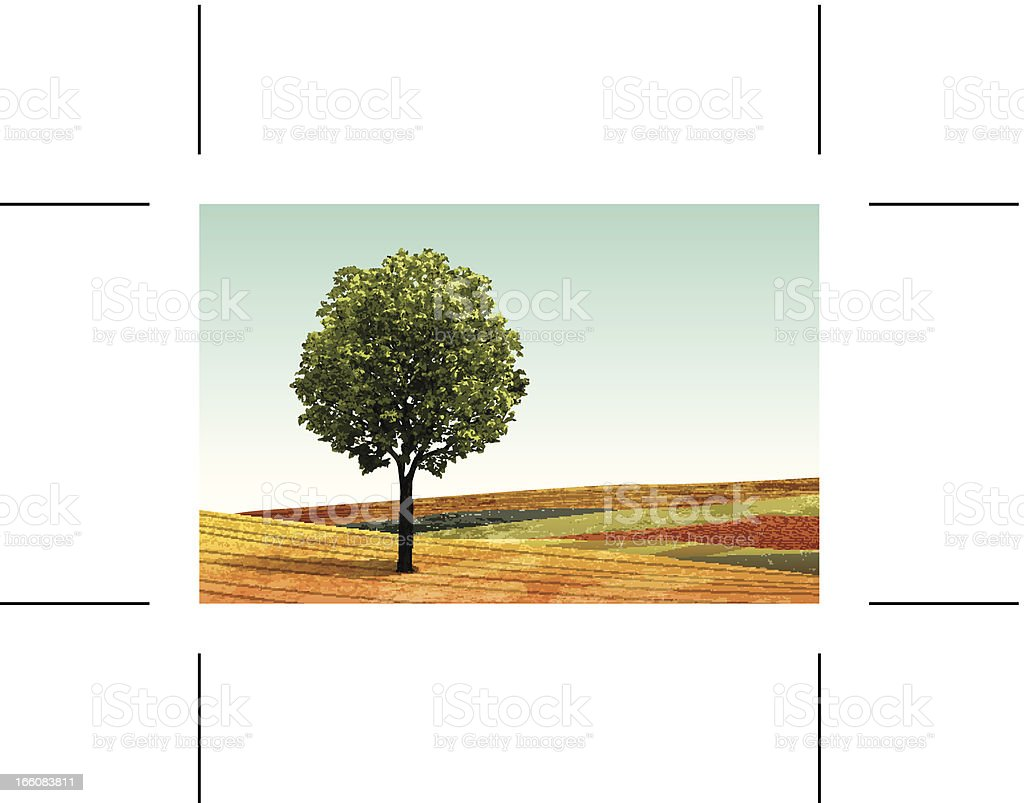 summer landscape banner with tree royalty-free stock vector art