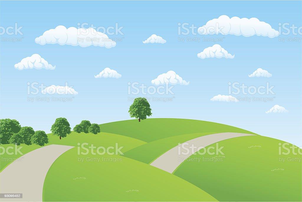 Summer landscape vector design royalty-free stock vector art
